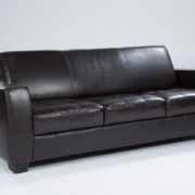 23_Brown Leather sofa