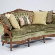 24_Green Velvet Couch