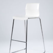 30_White - Chrome Chair