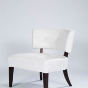 31_White Leather Chair